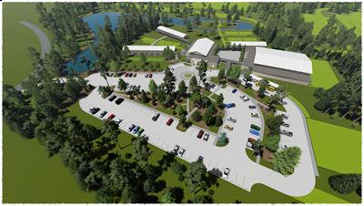 Middle School Aerial rendering