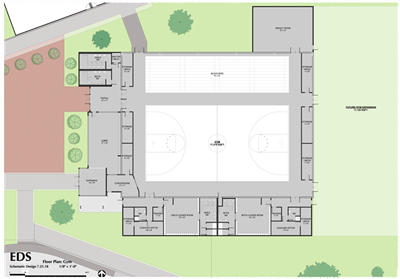 Gym Aerial view - EDS Floor Plan Gym