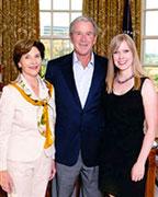 Elizabeth Garber Lanier, President George Bush, and a woman